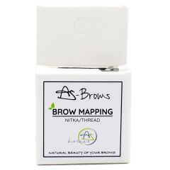 "Obarvana nitka za izris oblike obrvi ""Brow mapping"" AS-BROWS"